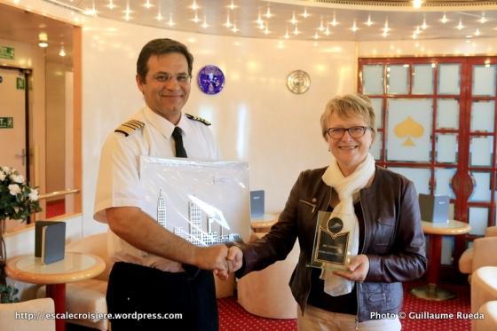Azores - Remise de plaques - Valérie Conan - Cruise Club Le Havre - Captain Felipe Jorge