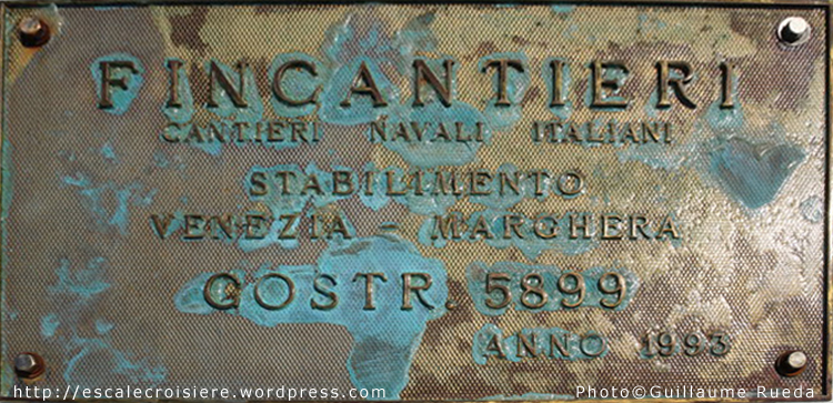 Costa neoRomantica - Plaque de chantier - construction 1993