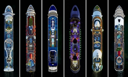 Paquebots vus du Ciel - Carnival Sensation - Norwegian Sky - Disney Dream - Freedom of the Seas - Carnival Victory - Jeffrey Milstein