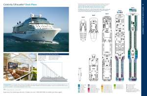 Celebrity Silhouette plan des ponts