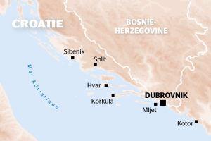 Carte Croatie - Croisière CroisiEurope