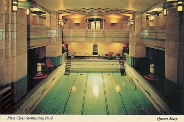 Queen Mary - First Class Swimming pool - Piscine