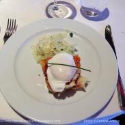 Costa Pacifica - oeuf poché sur pain perdu saveur méditerranéenne
