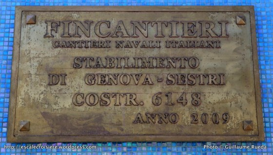 Costa Pacifica - plaque de chantier