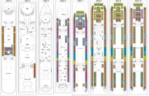 Harmony of the Seas - Plan des pontsHarmony of the Seas - Plan des ponts