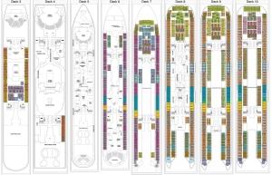 Harmony of the Seas - Plan des pontsHarmony of the Seas - Plan des ponts