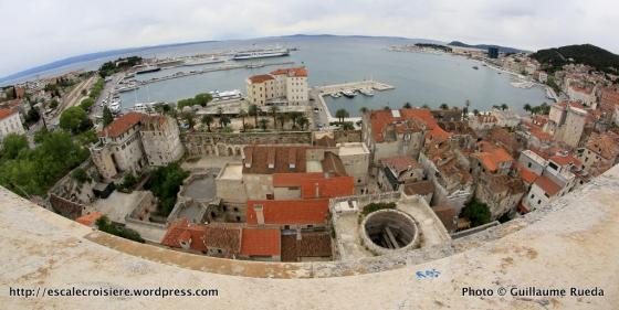 Vue depuis la tour de la cathédrale Saint Domnius de Split - Croatie