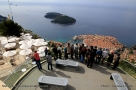 Vue depuis le fort impérial via le téléphérique de Dubrovnik - Croatie