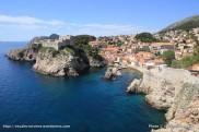 Vue sur le Fort Bokar depuis les remparts de Dubrovnik - Croatie (2)