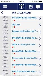 Harmony of the Seas - Appli mobile iQ - programme