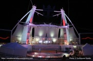 Harmony of the Seas by night - Boardwalk - Aquatheater