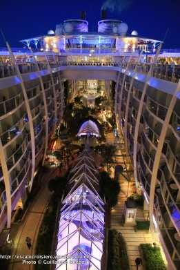 Harmony of the Seas by night - Central Park