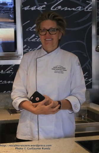 Seven Seas Explorer - Culinary Arts Kitchen - Chef Kathryn Kelly - Atelier d'art culinaire