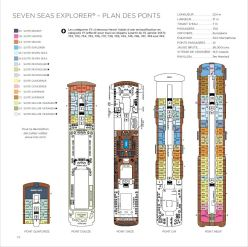 Regent Seven Seas Explorer - Plan des ponts