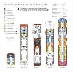 Regent Seven Seas Explorer - Plan des ponts