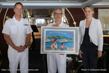 Seven Seas Navigator - Cérémonie de remises de plaques - Captain Ubaldo Armellino