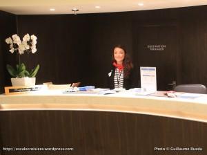 Toulon - Bureau information à bord d'un paquebot - Sandrine Mezzafonte
