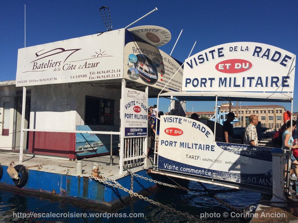 Toulon - visite de la rade en bateau