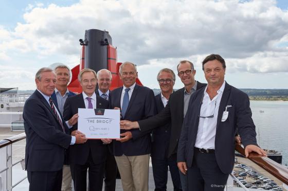 Signature de l'affrètement du Queen Mary 2 - Southampton 1er septembre 2016