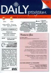 Daily Program - MSC Croisières