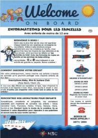 Information pour les familles avec enfants MSC Croisières