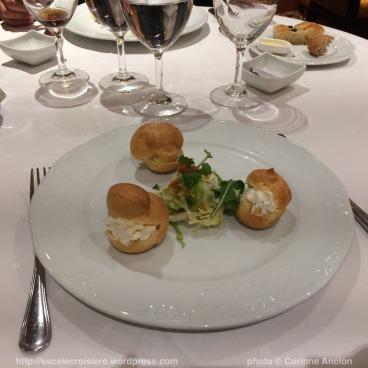 MSC Fantasia - restaurant - Choux farcis au fromage