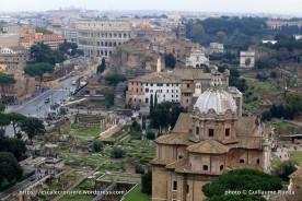 Rome - Vue du Vittoriano sur le Palatin et le Colisée