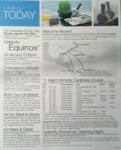 Celebrity Today - Celebrity Equinox - Journal de bord