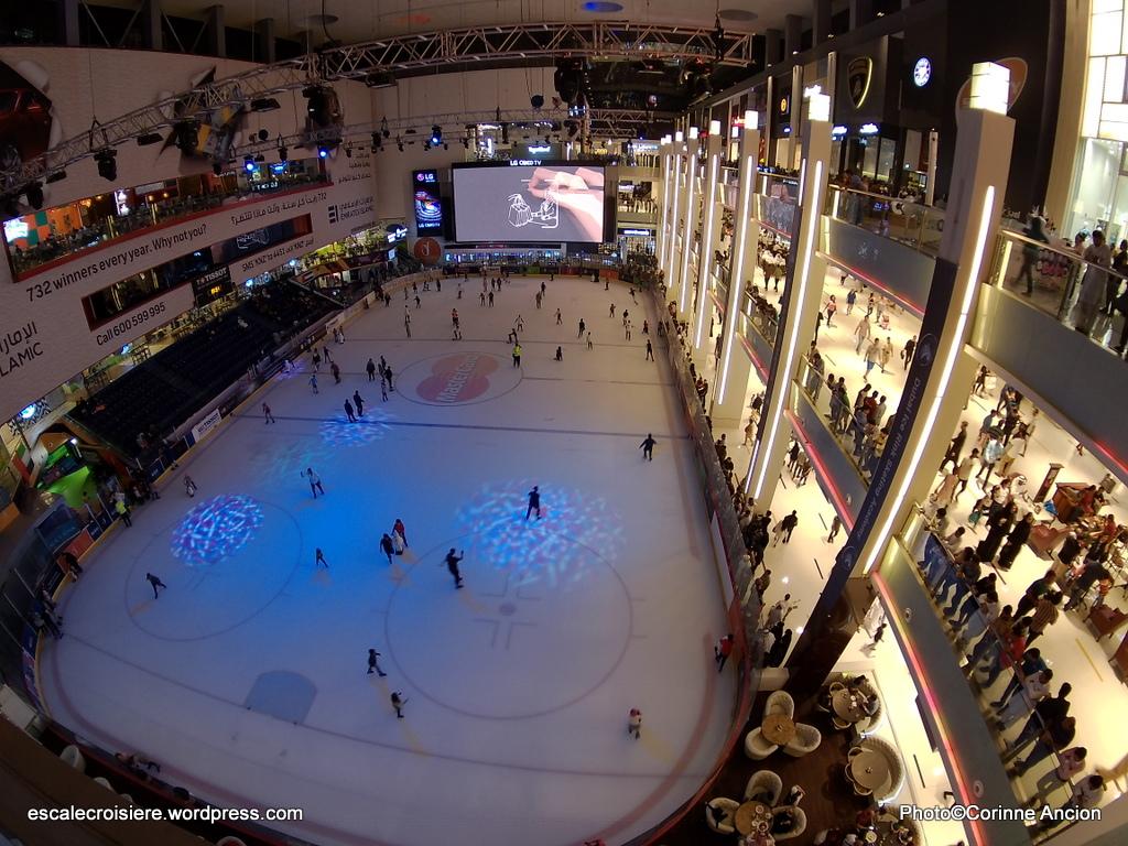 Escale à Dubaï - Emirats Arabes - Patinoire du Dubaï Mall
