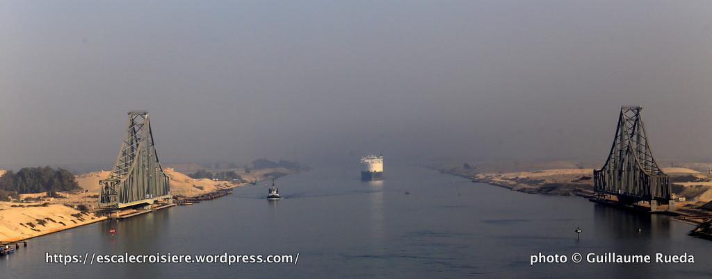Traversée du Canal de Suez - pont tournant de El Ferdam