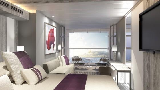 Celebrity Edge - Cabine avec balcon - Infinite Veranda vue mer