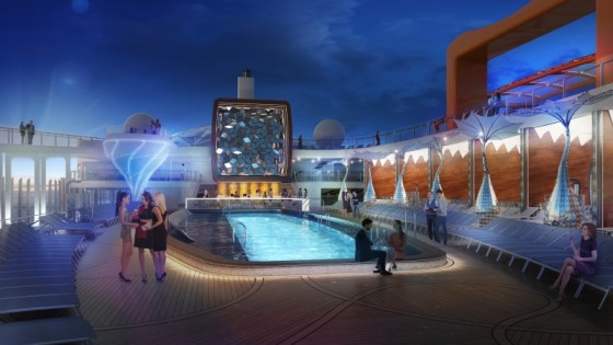 Celebrity Edge - Piscine extérieure by night