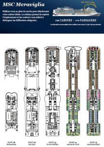Plan des ponts du MSC Meraviglia