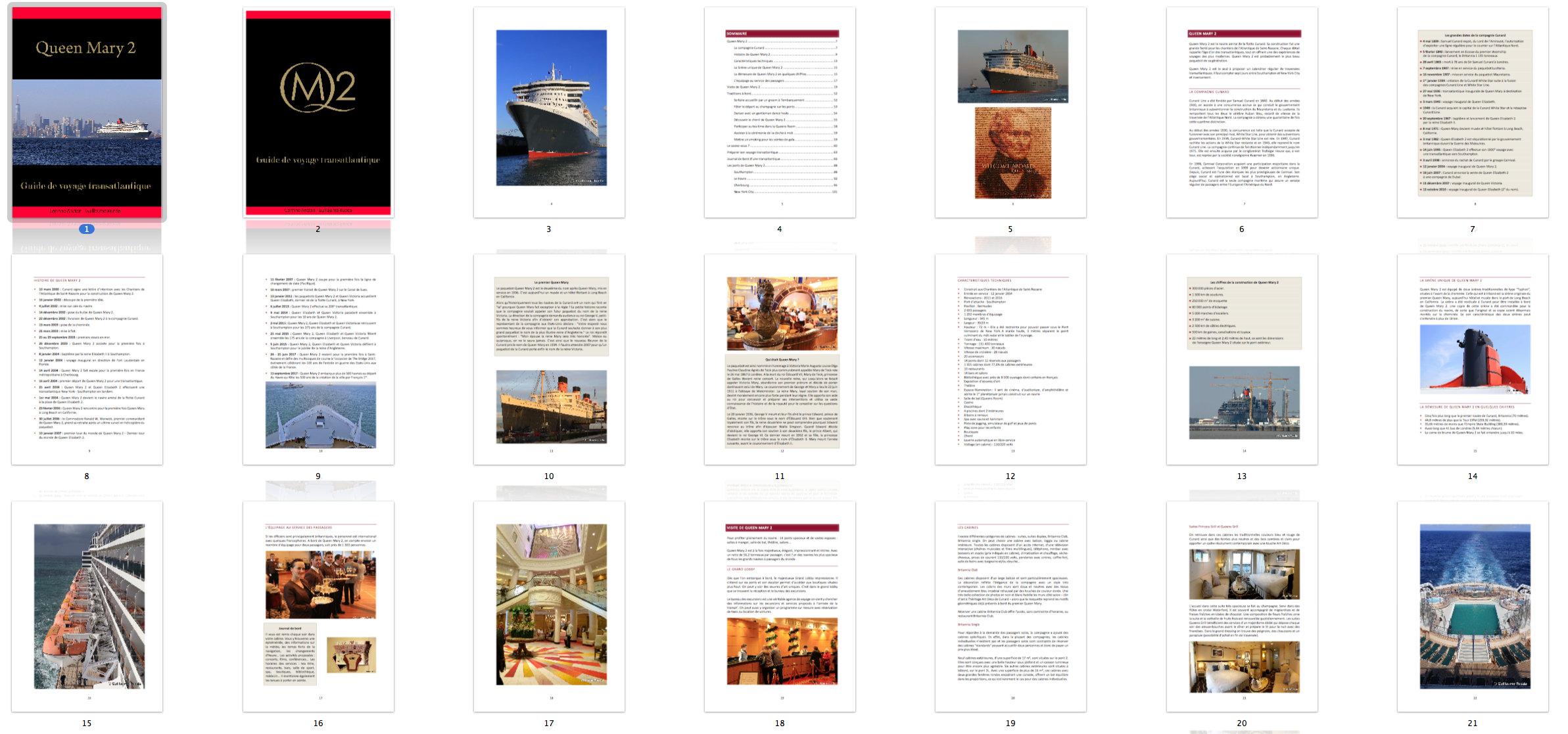 Planche contact Guide transatlantique QM2