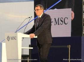 2017-06-03_MSC Meraviglia - Baptême - Le Havre - Luc Lemonnier Maire du Havre