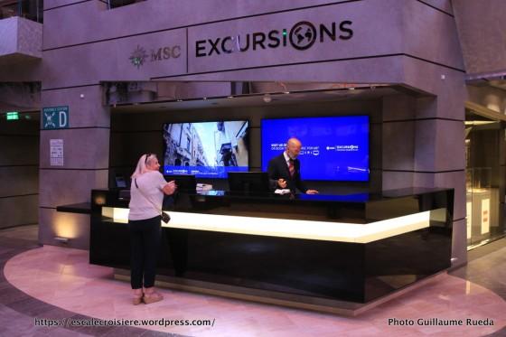 MSC Meraviglia - Bureau des excursions