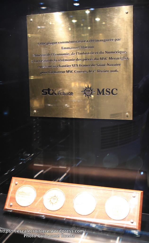 MSC Meraviglia - pièces commémoratives - Pont 6