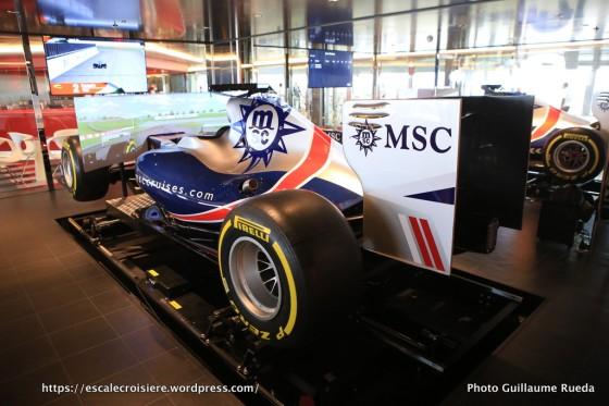 MSC Meraviglia - Simulateur de F1