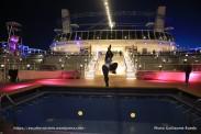MSC Meraviglia by night - Piscine arrière - Horizon pool et amphithéâtre