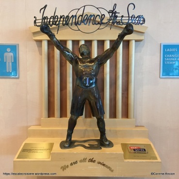 Independence of the Seas - Art - le boxeur de la salle de sport