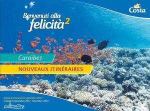 Brochure Costa Croisières Caraïbes hiver 2017-18