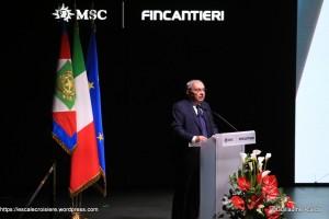 MSC Seaside cérémonie - Giuseppe Bono, Président Directeur Général de Fincantieri