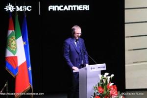 Président Exécutif de MSC Croisières, Monsieur Pierfrancesco Vago