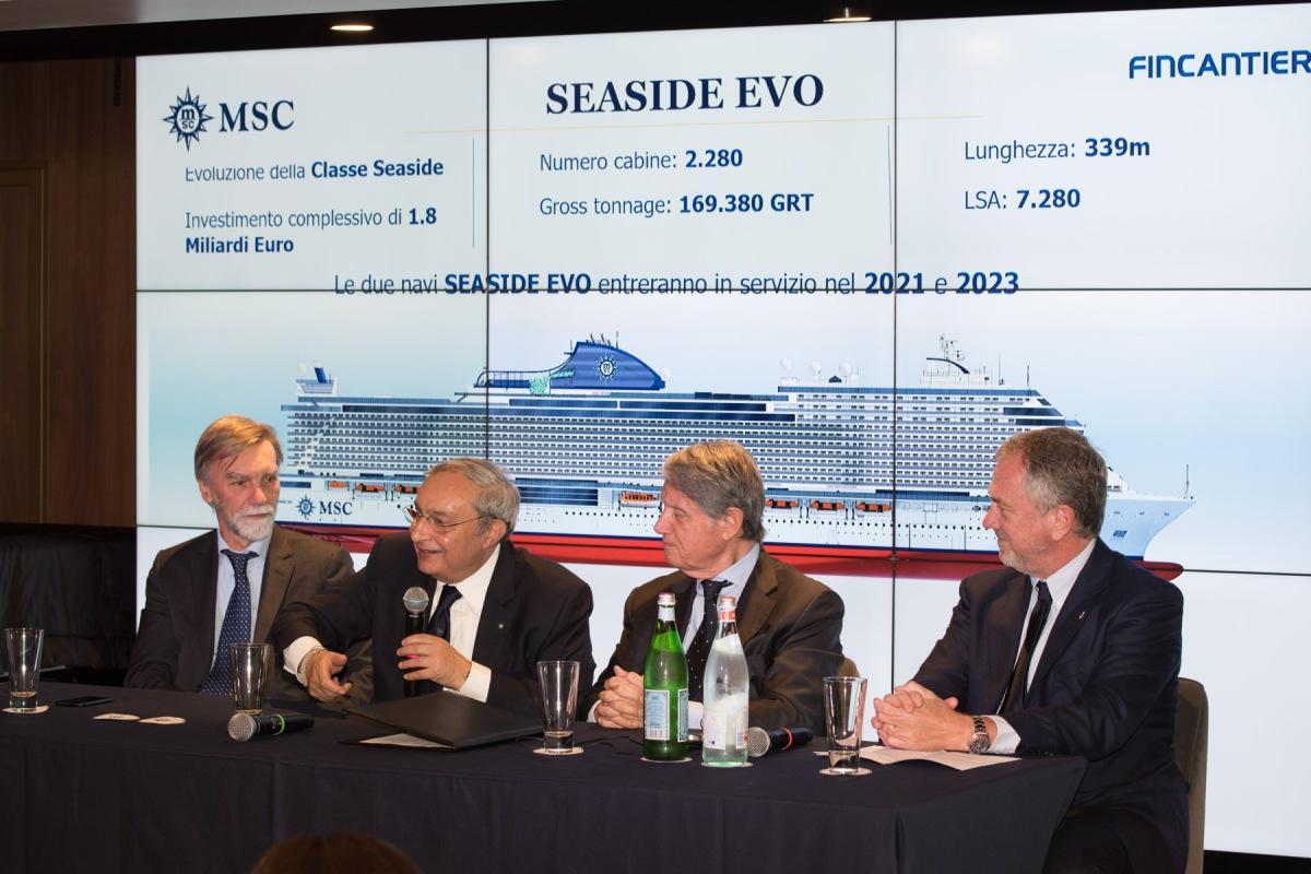 MSC Seaside - EVO signature de commande