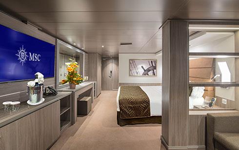 MSC Seaside_MSC Yacht Club Royal Suite intérieure