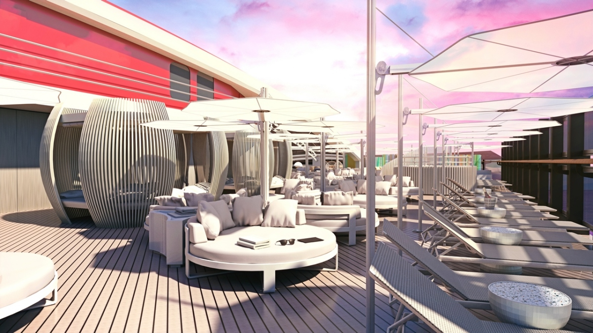 Virgin Voyage Lady Ship - VIP Lounge by Tom Dixon
