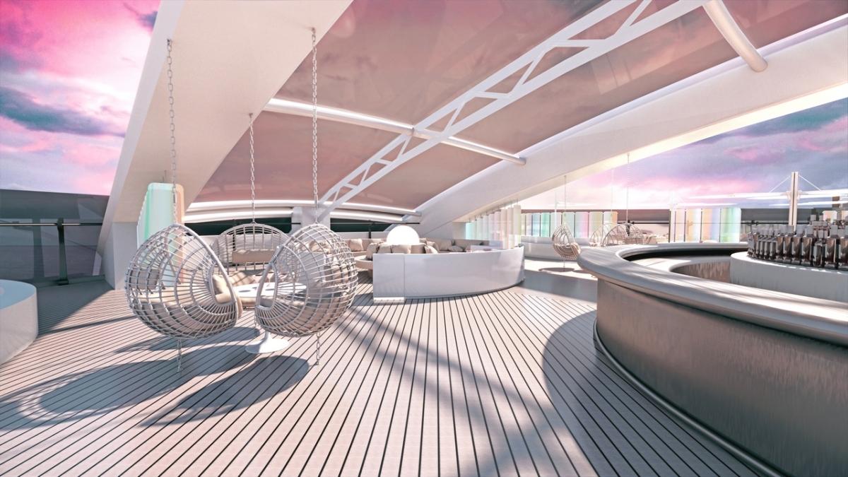 Virgin Voyage Lady Ship - VIP Lounge by Tom Dixon