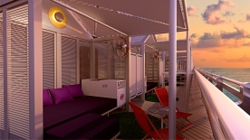 Virgin Voyages_Athletic Club cabana_Concrete Amsterdam - Lady Ship