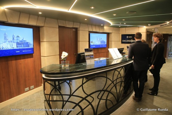 MSC Seaside - bureau des excursions
