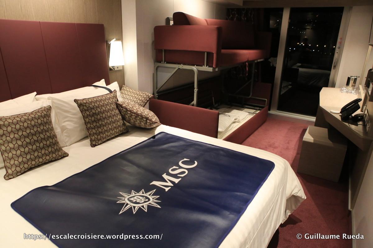MSC Seaside - Cabine balcon lits superposés 9064
